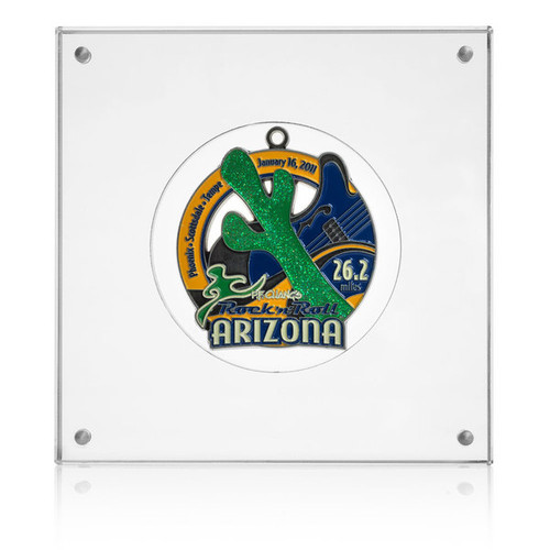 Rock N' Roll Arizona Marathon Medal Display - Great Medal Frame for almost all round Rock N' Roll Medals