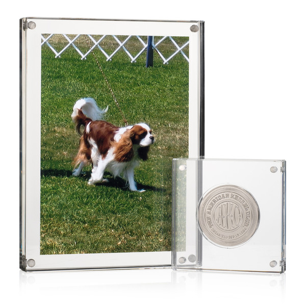 Picture frame with AKC Medallion Display