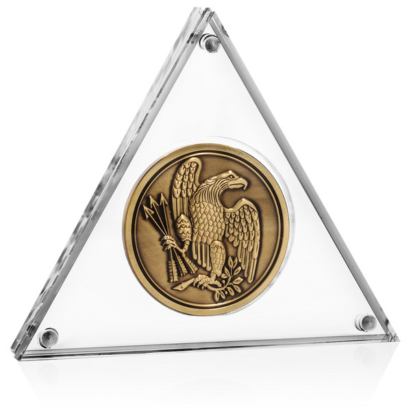 Triangle Coin Display Frame