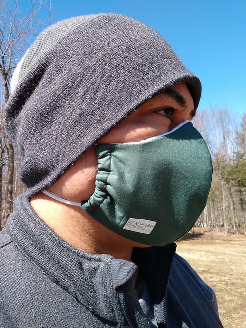Man demonstrating mask