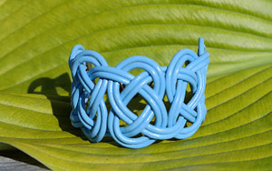 Sky Blue Double Coin Knot
