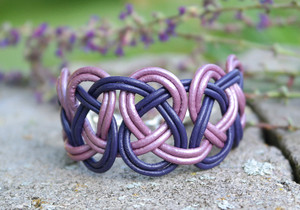 Deep Purple & Metallic Lilac Double Coin Knot