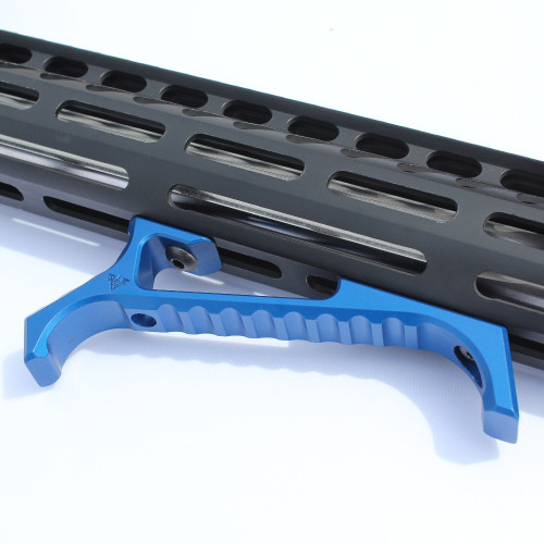 VP-23 Tenaci Angled Grip - Blue on Rail System