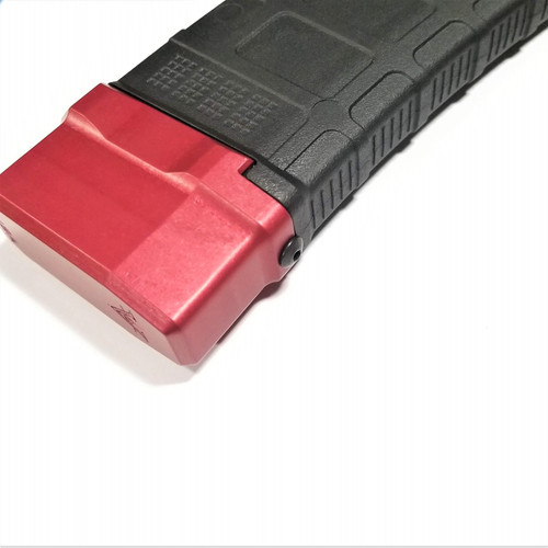 VP-26 P-Mag 5.56/.223 Base Pad Extension - Red side view