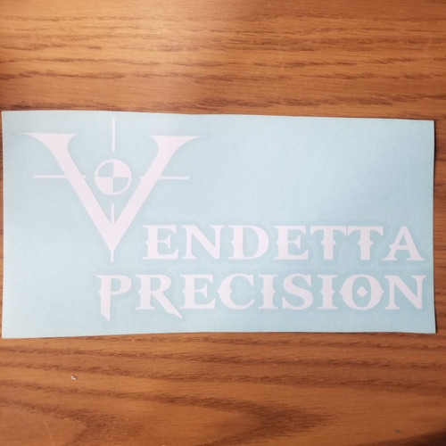 Vendetta Precision Company Logo - Vinyl Transfer Decal