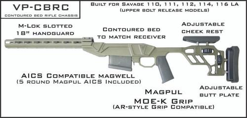 VP-CBRC - Savage LA Rifle Chassis Kit