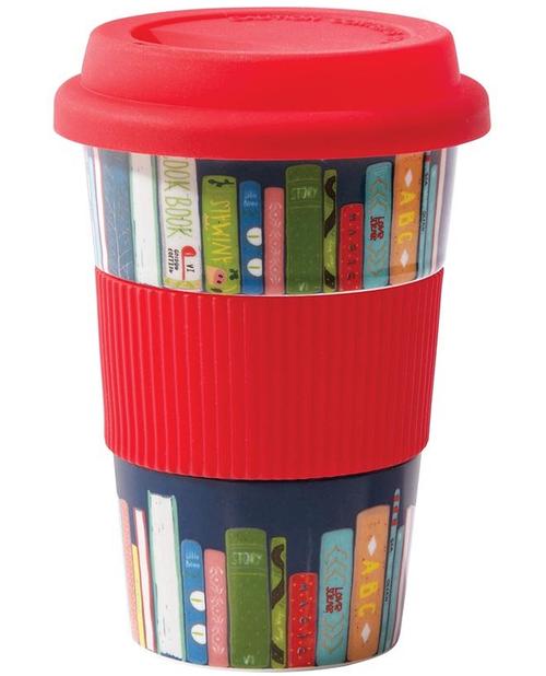 Reusable Cup Ceramic Books - Vermillion