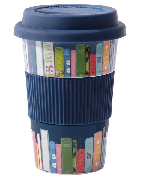 Reusable Cup Ceramic Books - Navy Blue