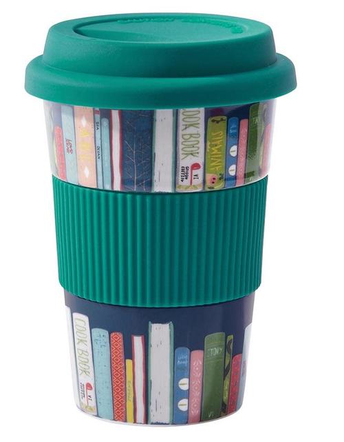 Reusable Cup Ceramic Books - Teal
