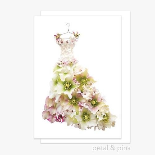 petal and pins Greeting Card - Springtime Dress