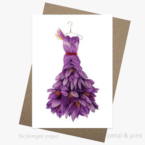 petal and pins Greeting Card - Sassy Saffron