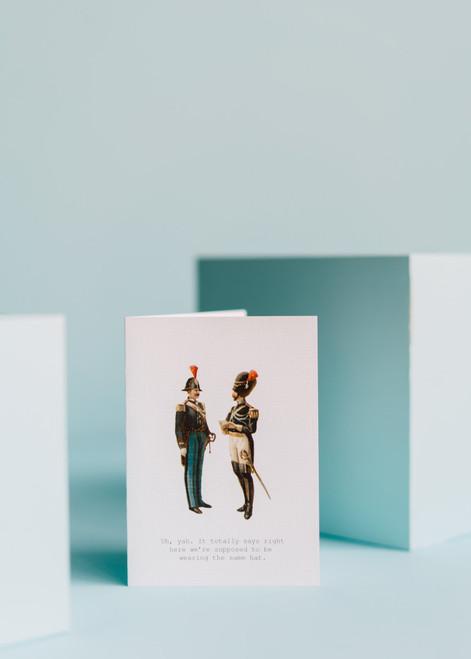 Tokyo Milk Greeting Card - Yuhuh, same Hat!