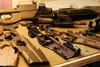 PS90 stocks taken apart to install internal lasers.