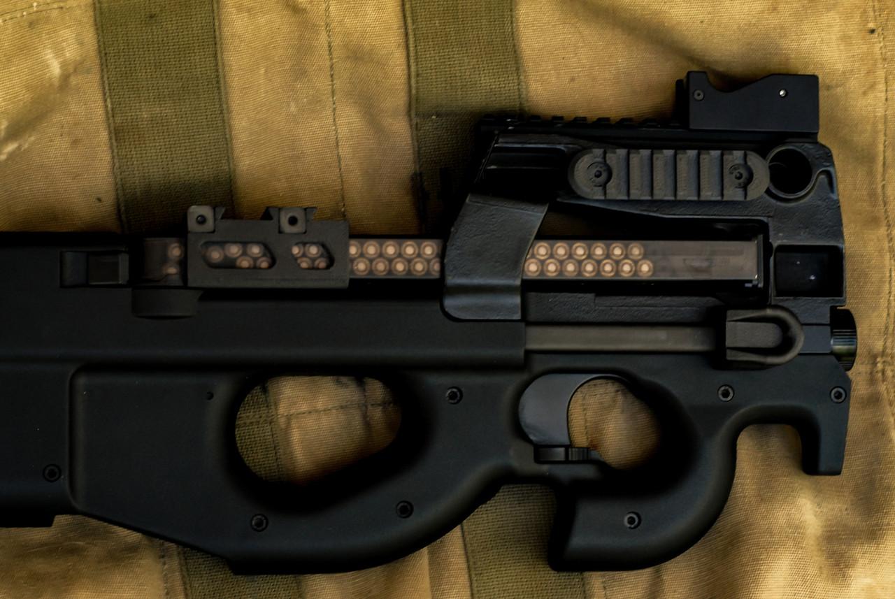 Black SBR PS90 with Carbon Fiber rails.