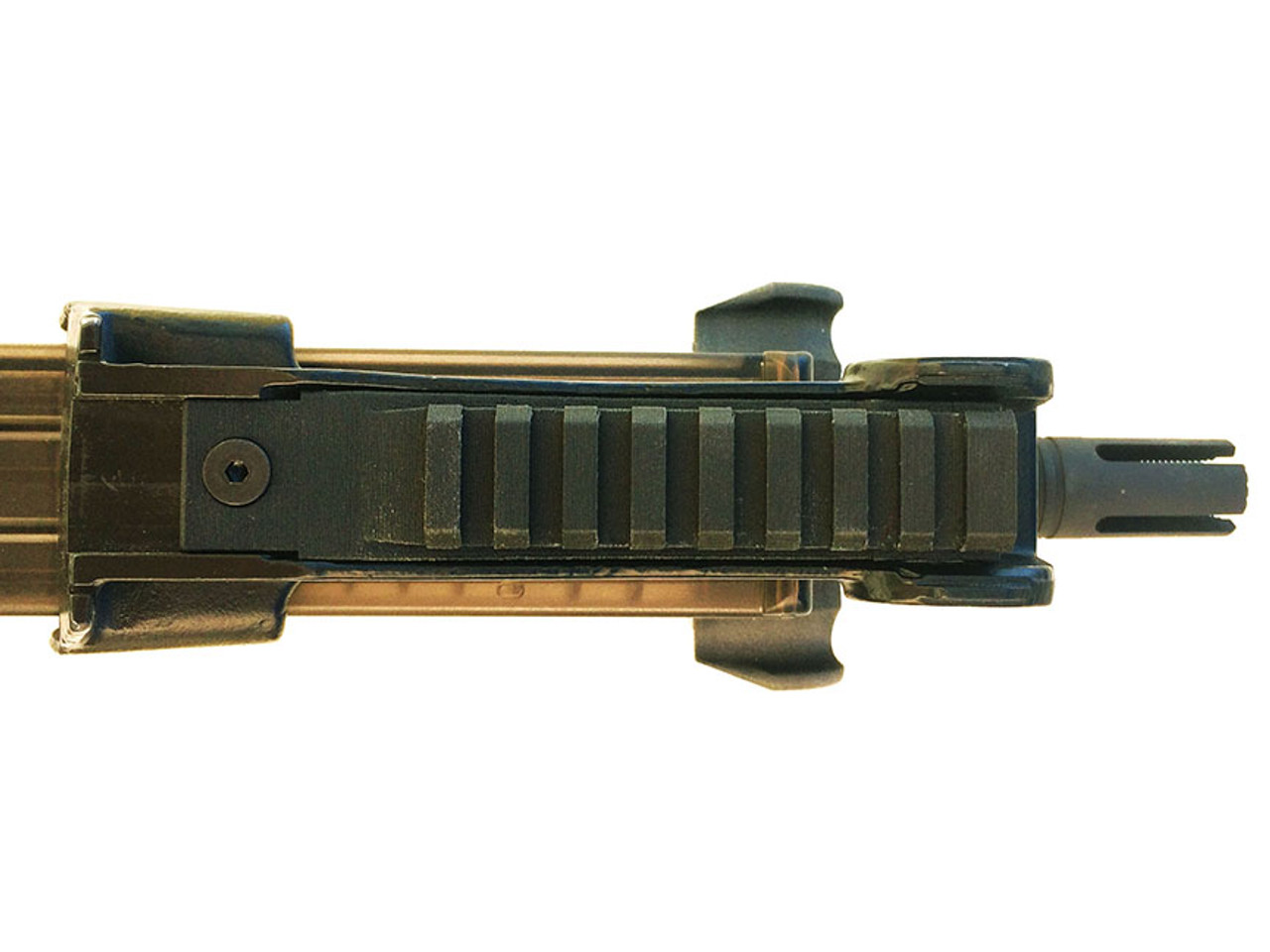 PS90 Low profile picatinny optic rail seen from above.