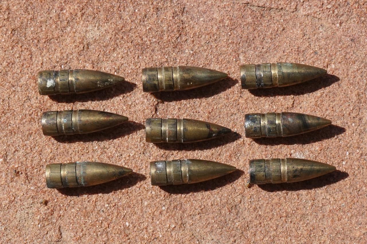 Banes Illegal Solid Brass AP armor piercing pistol ammo
