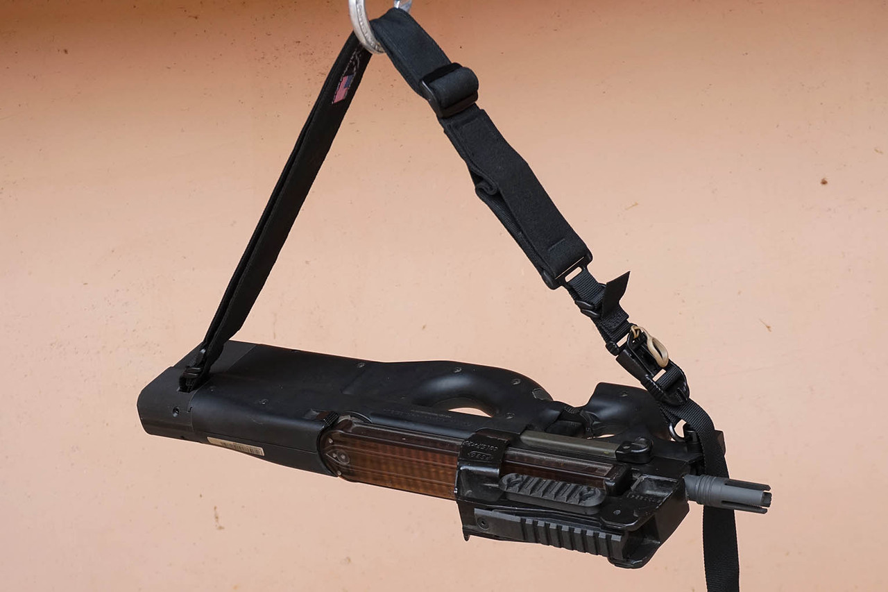 PS90 with sling accessory package. The cigar cutter sling is inferior.