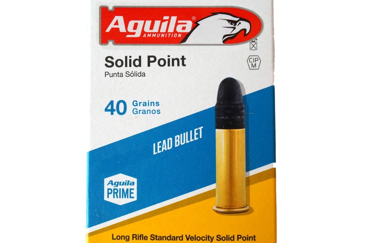 40grain Aguila.22LR Solid Point