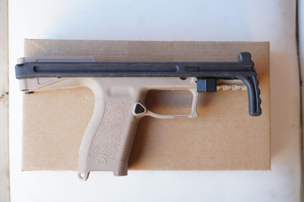 USW P320 Grip Module with Folding Stock, Tan