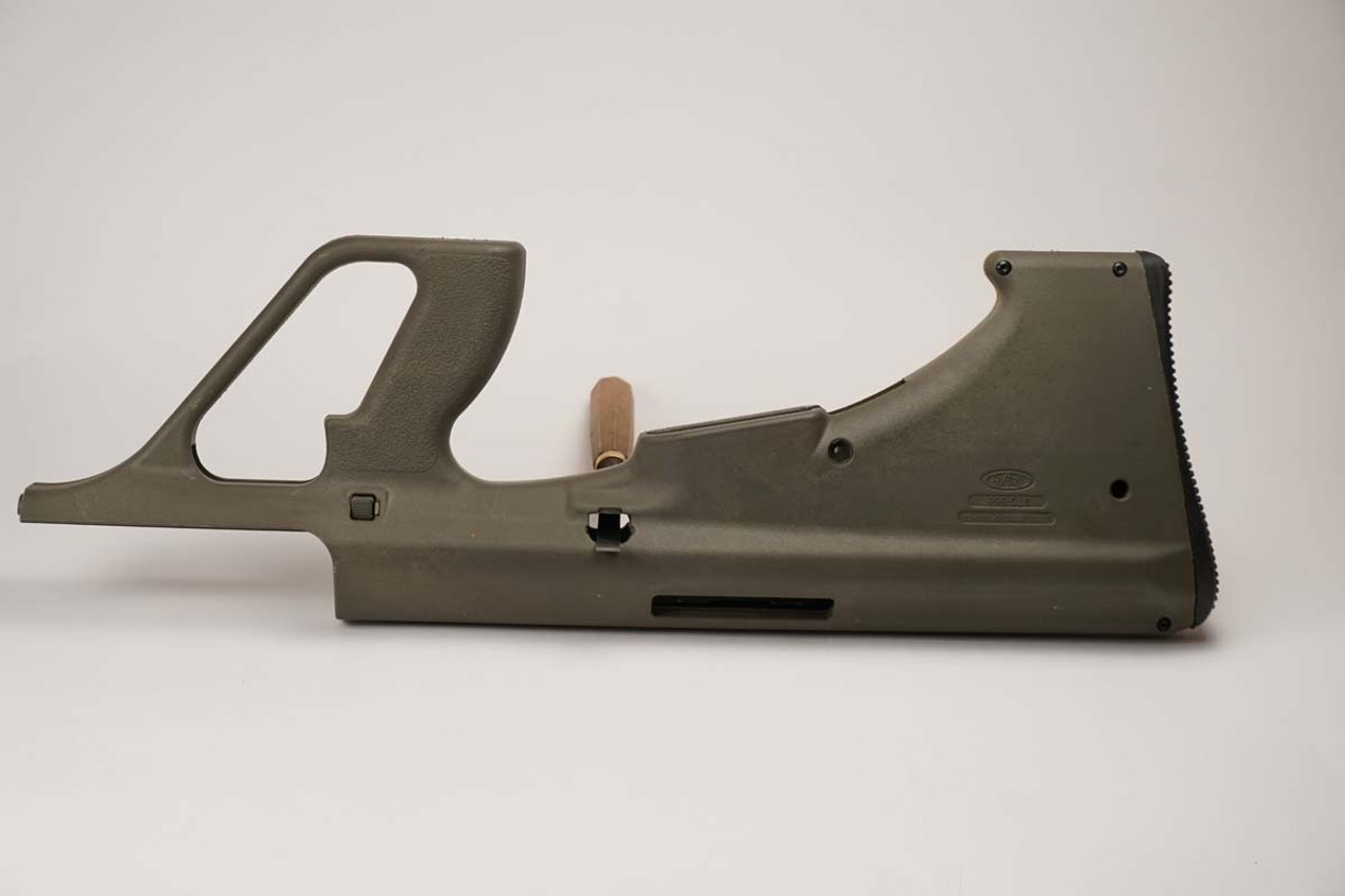 STG green stock side view