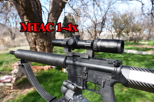 Burrus MTAC 1-4x scope on larue mount (not included)