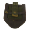 EARLY WEST GERMAN LEATHER & CANVAS SHOVEL COVER,CARRIER