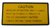 Military Caution Battery Decal