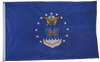 USAF (Air Force)  2 Sided Embroidered Flag 3 x 5