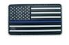 Morale Pvc Patch - U.S. FLAG Black, Grey and Blue