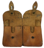 French Leather Double Ammo Pouch