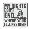 Morale PVC Patch- My Rights 6743