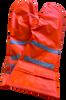 Swiss Military Surplus Hi-Vis Orange & Reflective Mittens