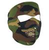 Full Mask Neoprene Woodland Camo