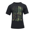Rothco Distressed US Flag Athletic Fit T-Shirt Woodland Camo