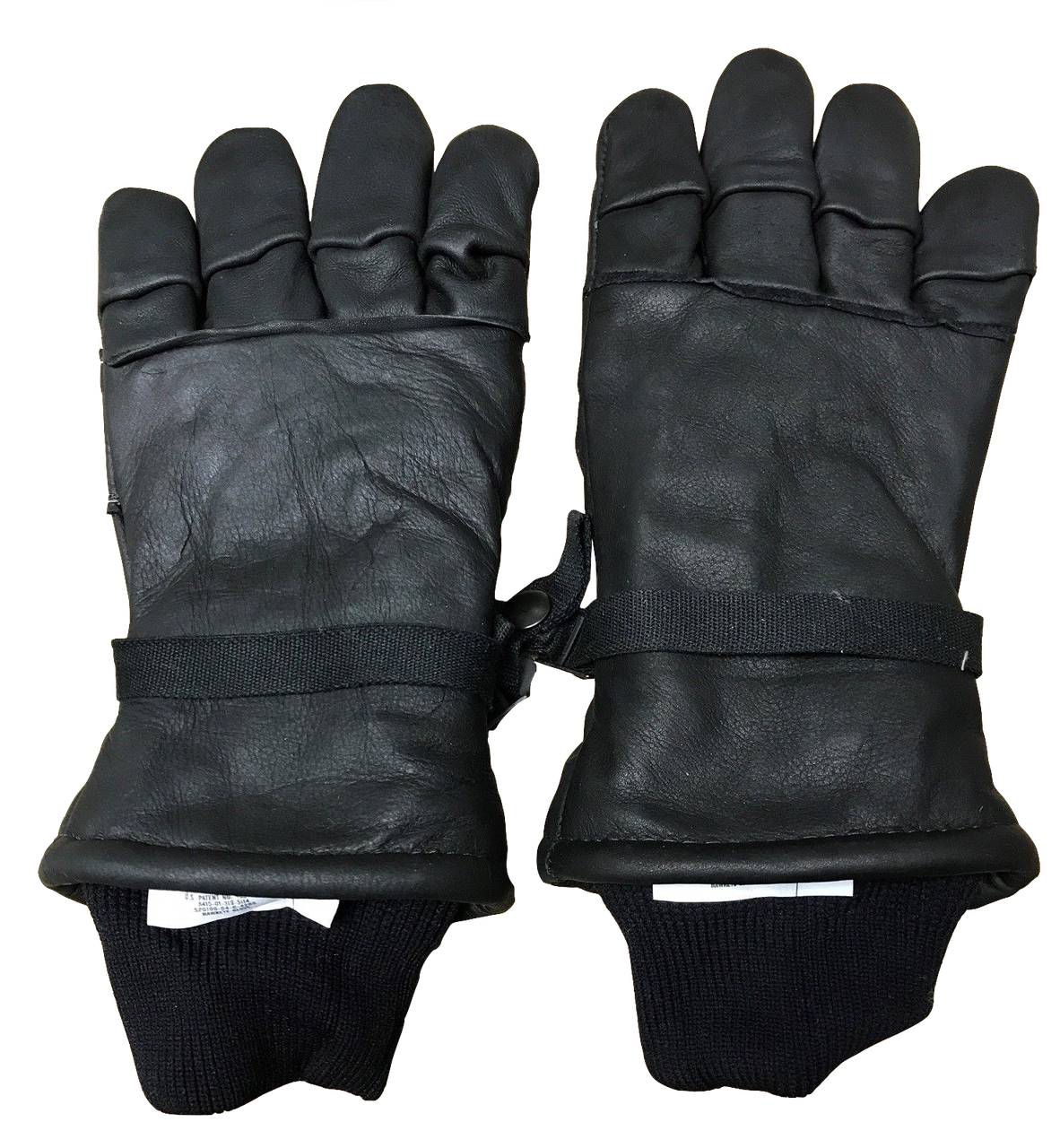 NEW Intermediate Cold Wet Weather Black Leather Military Issue Gloves ea98d170a2