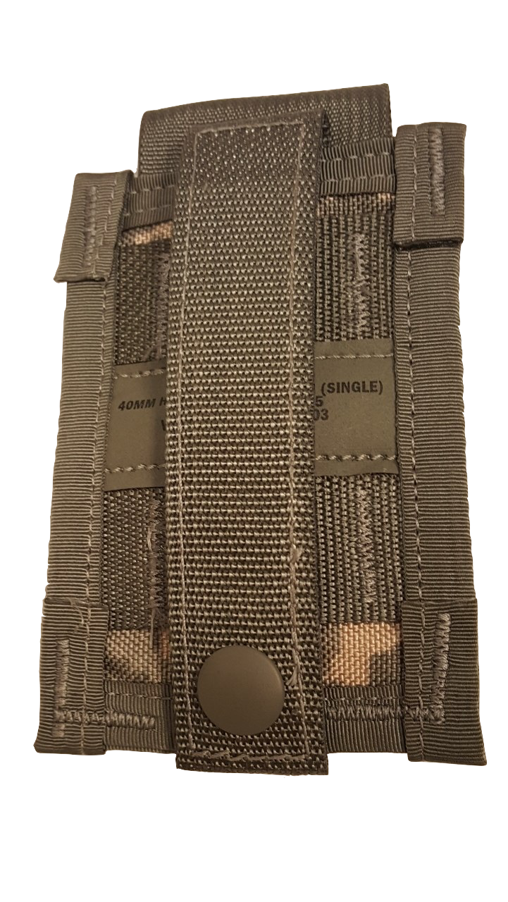 MOLLE II  40mm High Explosive Single Pouch woodland