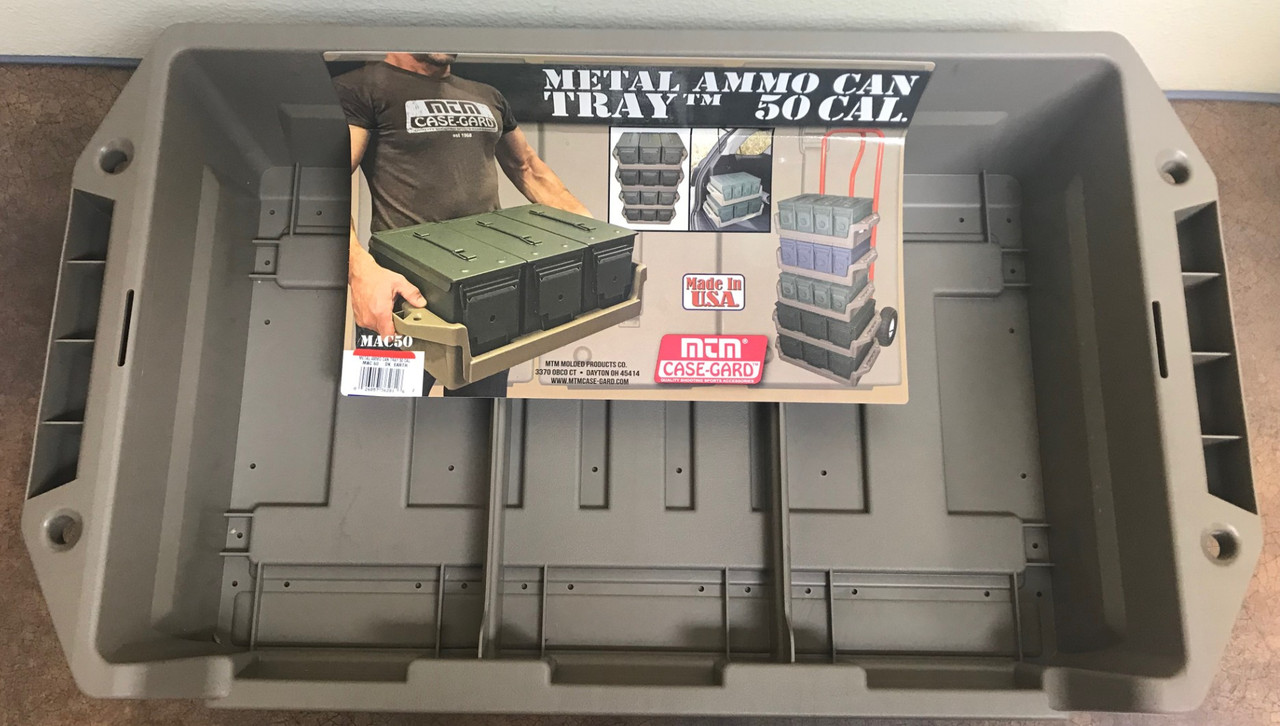50 Cal Metal Ammo Can Tray