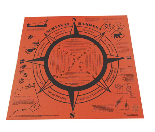 5ive Star Gear Survival Handkerchief Orange