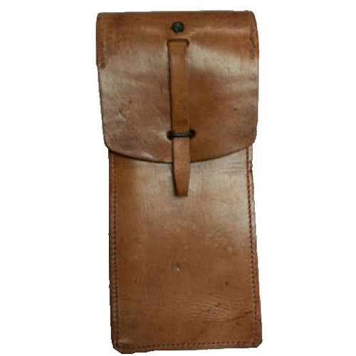 French Large Leather Pouch
