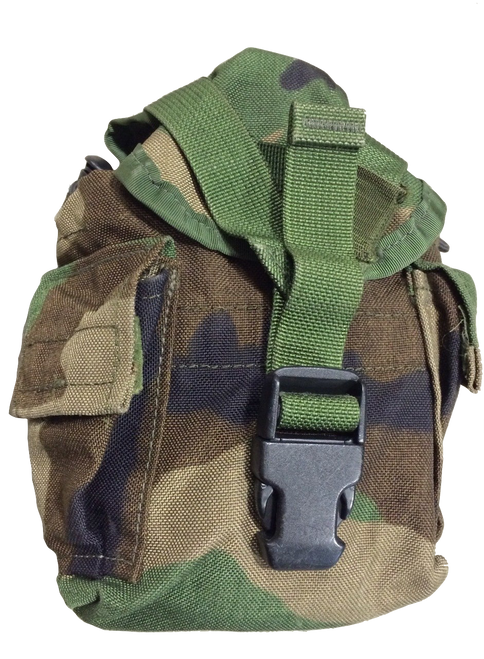 MOLLE II Canteen Cover/Utility Pouch USED Woodland