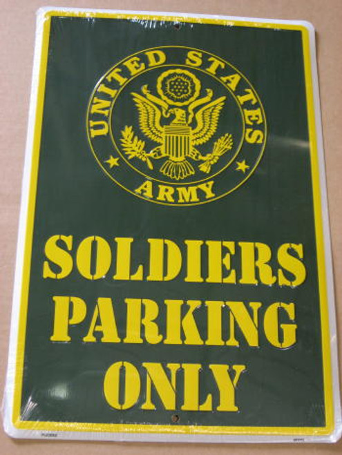 US Army Soldier Parking Sign