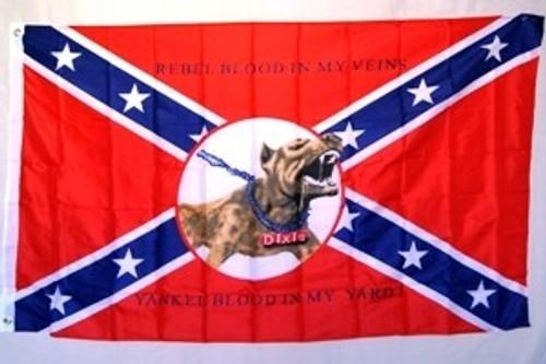 REBEL YANKEE BLOOD FLAG 3'X5'