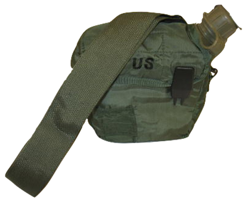 GI Issue OD 2 Quart Canteen Cover & Canteen Combo Set