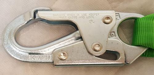 Miller  StretchStop Lanyard, Single Leg w/ Locking Snap Hook, 6'