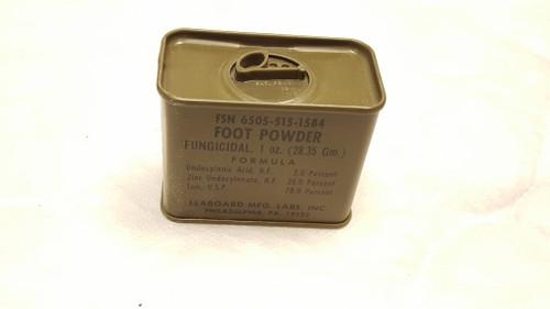 Military GI Issue Foot Powder Vietnam Era