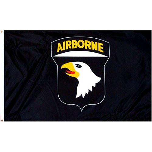 101st Airborne Flag Black