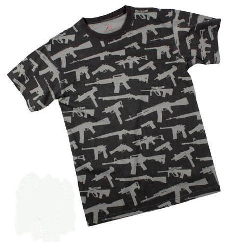 MULTI PRINT ''GUNS'' - BLACK T-Shirt