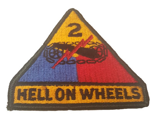 Military Issue 2nd Armored Division Hell on Wheels Patch Full Color