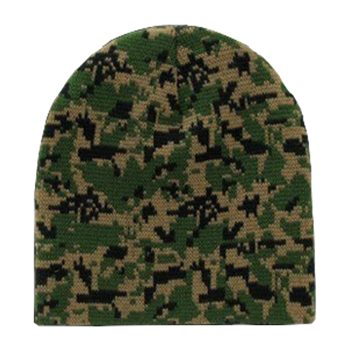 Woodland Digital Camo Beanies Watch Caps