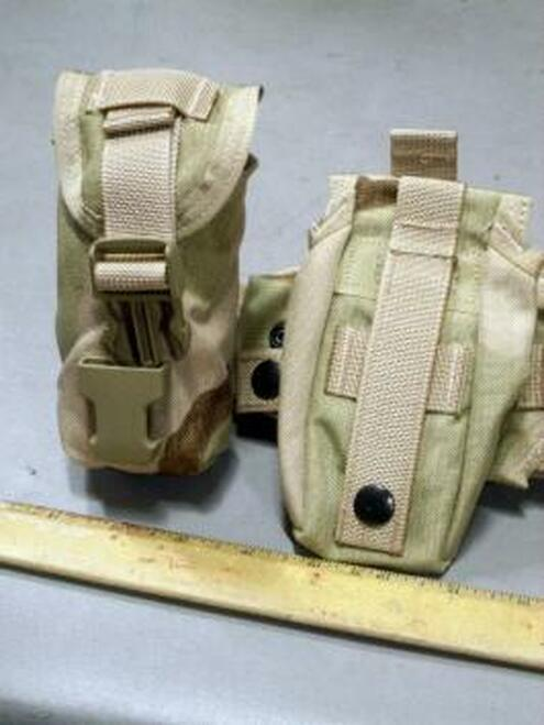 Used NSN 8465-01-559-3148 Molle Ground Illumination Flare Pouch Color: Coyote